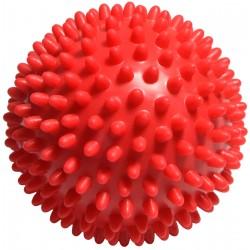Piłeczka z kolcami do masażu 9 cm czerwona EB FIT