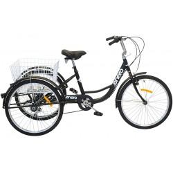 Rower 3-kołowy trójkołowy rehabilitacyjny koła 24 6-biegowy