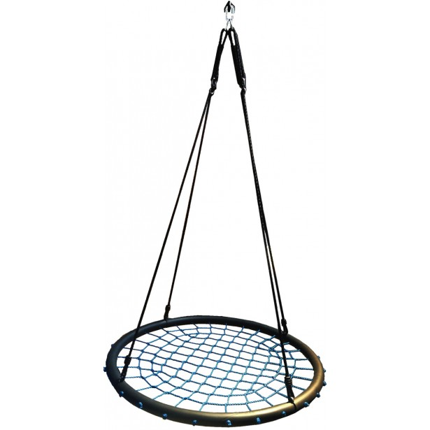 Huśtawka ogrodowa bocianie gniazdo 120cm sznurek niebieski