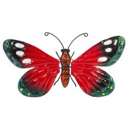 Motyl dekoracyjny 26cm czerwony