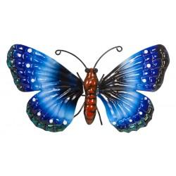 Motyl dekoracyjny 26cm niebieski
