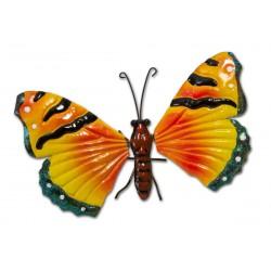 Motyl dekoracyjny 26cm żółty