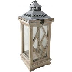 Dekoracyjna lampa drewniana 43cm z szufladą