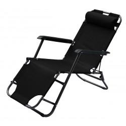 Fotel wielopozycyjny Level z zagłówkiem czarny