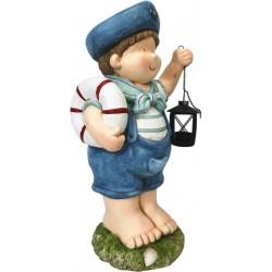 Figurka ogrodowa marynarz z lampionem dziewczynka 50cm