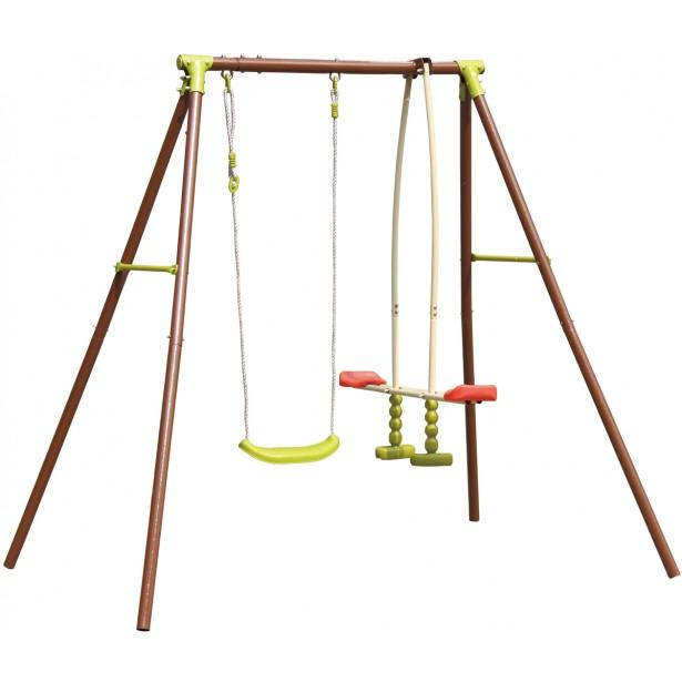 Huśtawka ogrodowa 3-osobowa plac zabaw dla dzieci