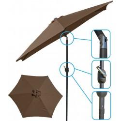 Parasol ogrodowy 300cm składany brązowy Saska Garden