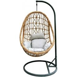 Kokon fotel wiszący concept beż szary