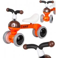 Rowerek biegowy jeździk Enero pomarańczowy Mrówka