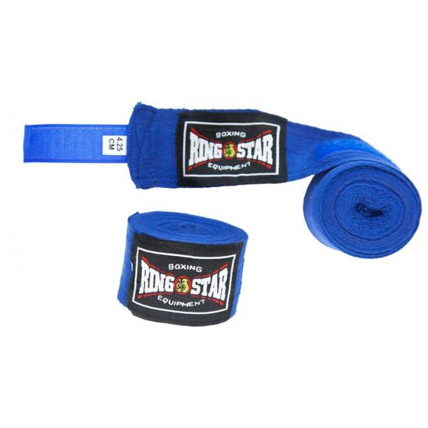 Bandaże Bokserskie Ring Star Niebieskie 2Szt