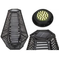 Lampa solarna sześciokątna 35x40x54cm czarna