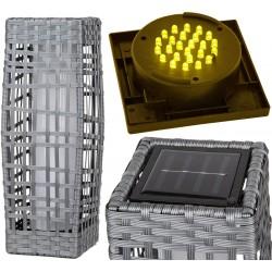 Lampa solarna kokon delux 17,5x17,5x48cm szara