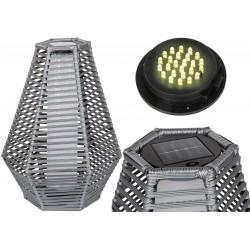 Lampa solarna sześciokątna 35x40x54cm szara