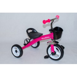 Rowerek Czarno Różowy Z Bidonem