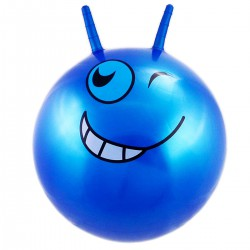 Piłka 55Cm Buźka Niebieska