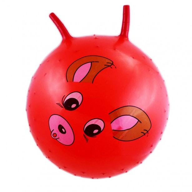 Piłka 55Cm Piesek Czerwona