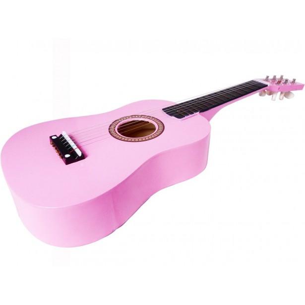 Gitara Drewniana Różowa