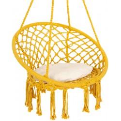 Hamak bocianie gniazdo fotel wiszący Huśtawka 80x60cm z poduszką