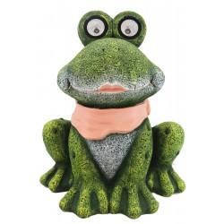 Dekoracja ogrodowa żaba gigant z solarem led