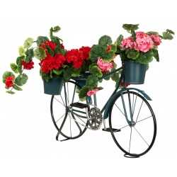 Kwietnik ogrodowy rower 3 doniczki granatowy