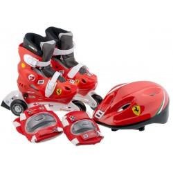Łyżworolki+Kask+Ochraniacze Ferrari 35-38