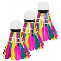 Lotka badminton z piór Enero 3szt kolorowa