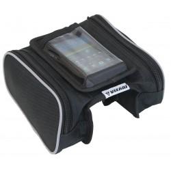 Sakwa torba rowerowa na ramę z etui na telefon K-076