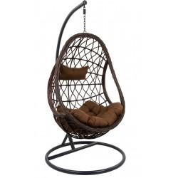 Fotel bujany lax c.brązowy-szary-brązowy