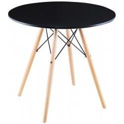 Stół okrągły Matera czarny 60x60cm Saska Garden