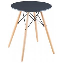 Stół okrągły Matera szary 60x60cm Saska Garden