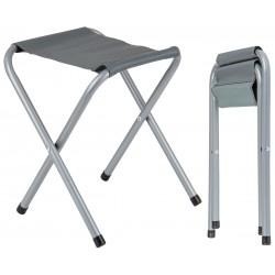Krzesełko turystyczne kempingowe szare 32x27x36cm