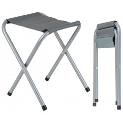 Krzesło wędkarskie turystyczne taboret składany szary 32x27x36cm