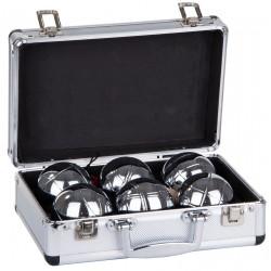 Kule do gry 6szt- boule petanque walizka aluminiowa Enero
