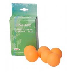 Piłeczka Tenis Stołowy Enero 6 Szt Pomarańczowa