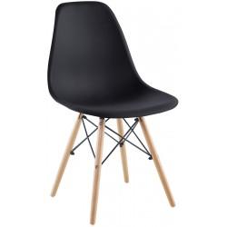 Krzesło Matera czarne kpl 4szt Saska Garden