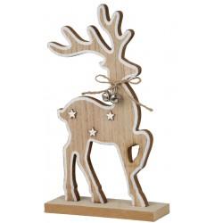 Renifer świąteczny śnieżne gwiazdki 28cm