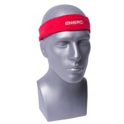 Frotka opaska tenisowa na głowę czerwona Enero