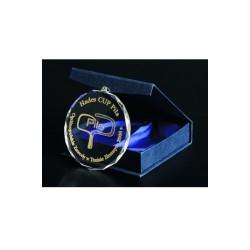 Medal Szklany Grawerowany Z Etui + Wypełnienie Farbą