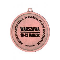 Medal Stalowy Brązowy Piłka Nożna Grawerowany Laserem- Rmi