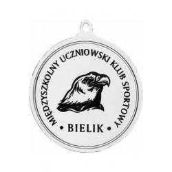 Medal Zamak Srebrny Piłka Nożna Z Grawerowaniem Laserem- Rmi