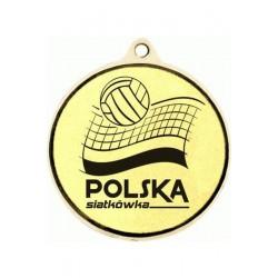 Medal Złoty Z Miejscem Na Emblemat 50 Mm - Medal Stalowy Grawerowany Laserem- Rmi