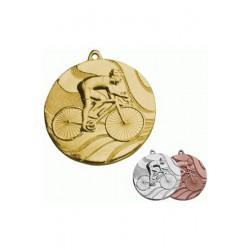Medal stalowy złoty Kolarstwo MMC5350/G