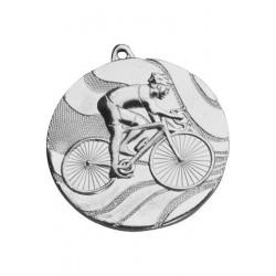 Medal stalowy srebrny Kolarstwo MMC5350/S