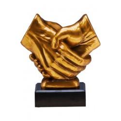 Figurka odlewana - uścisk dłoni  RFST2089/G