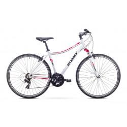Rower Romet  Orkan D Biało-Różowy 15 S