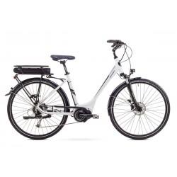 Rower ROMET ELEKTRYCZNY ERC 100 D biały 19 L