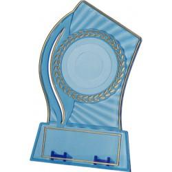 Trofeum Plastikowe - Przezroczysto - Złote Z Miejscem Na Wklejkę 50Mm I Tabliczkę 65Mmx23Mm T-M