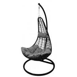 Huśtawka fotel bujany slim szary czarny