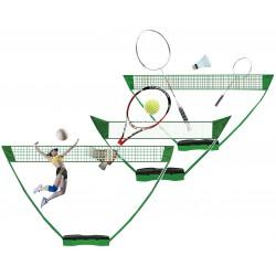 Zestaw Plażowo-Ogrodowy Siatkówka Tenis Badminton 3W1 Enero